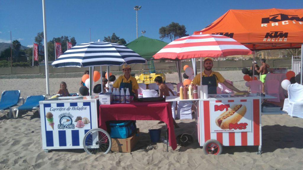 carro de helados y de perritos en malaga